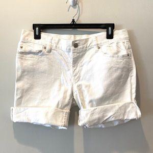 LOFT Ann Taylor White Denim Shorts